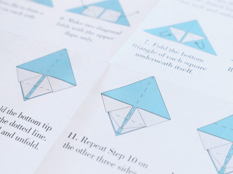 Illustrations for origami sets
